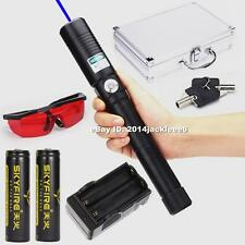 World Most Powerful Handheld Laser Pointer Laser Pen Torch Burning Match 2x18650