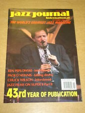 JAZZ JOURNAL INTERNATIONAL VOL 43 #10 1990 OCTOBER KEN PEPLOWSKI CHUCK WILSON