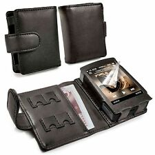 Tuff-Luv Genuine Western Leather Case Cover for Cowon Plenue D - MP3 - Black