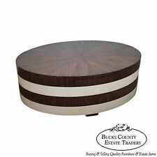 EJ Victor Movement Oval Revolving Rosewood Coffee Table