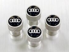AUDI ZAW071215 Carbon Fiber Valve Stem Caps with Audi Rings Logo