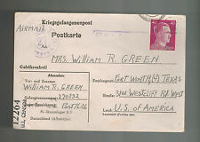 1945 Germany POW PC Camp Cover Stalag 2B US Army Prisoner of War Ft Worth Texas