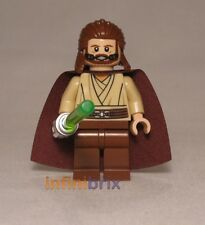Lego Qui-Gon Yinn de Set 9499 Gungan Sub Star Wars Jedi Minifigura Nuevo sw410