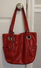 Fossil Hathaway~Red Glazed Leather~Purse/Tote/Shopper
