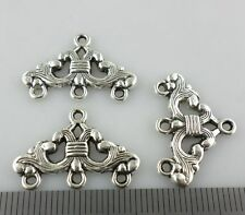 16pcs Tibetan Silver 1 to 3 Hole Connectors Bails Charms Crafts Jewelry 23x16mm