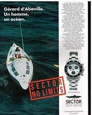 Publicité Advertising 1992 La Montre Sector SGE 500 Chrono Gerard d'Aboville