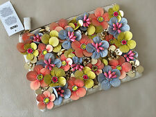 ASOS Clutch Bag/Handbag Neon Flower Floral Embellishment BNWT *NEW*