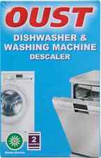 OUST DISHWASHER & WASHING MACHINE KITCHEN DESCALER LIMESCALE CLEANER 2 SACHETS
