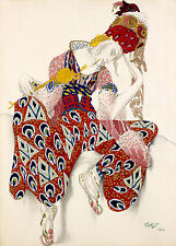 Ballets Russes Print Reproduction: Nijinsky in La Peri - Fine Art Print