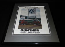 1980 Gunther Mazda / Volkswagen VW Miami Framed 11x14 ORIGINAL Advertisement