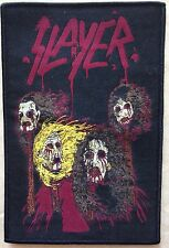 Slayer death skin mask woven patch / aufnäher with black rim!Thrash Metal Rare!