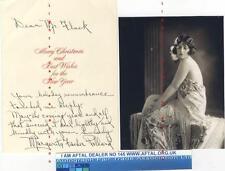 Margarita Fischer vintage signed Christmas Card AFTAL