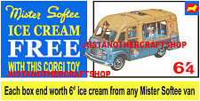 Corgi Toys 428 Mr Softee Walls Ice Cream Van Poster Display Sign Leaflet Advert