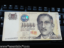 Singapore 10000 Dollar  Reproduction Note For Collection XF Condition