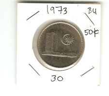 My world collection Malaysia 1973 50sen coin, very nice lustr2/Bu?