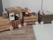 Locomotiva Trenino realizzata con Cassette legno di faggio frutta vintage