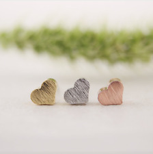 New Fashion Tiny Cute Little Heart Rose Gold Stud Earrings