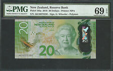New Zealand 2016 P-193a PMG Superb Gem UNC 69 EPQ 20 Dollars *Polymer*
