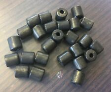 Vintage Real Sample Card Semi Matte Rustic Gunmetal Color Metal Tube Bead Lot