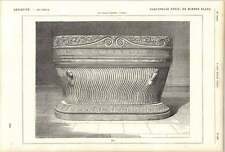 1882 Striated Sarcophagus In White Marble Roman Antiquity