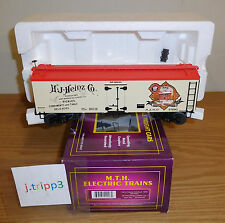 MTH 20-94322 HEINZ HAPPY HOLIDAYS 1869 36' WOODSIDED REEFER CAR O SCALE TRAIN