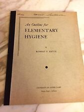 Vintage 1945 University of Notre Dame Class Notes Outline for Elementary Hygiene