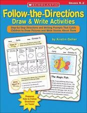 Follow-the-Directions Draw and Write Activities : Step-by-Step Directions and...