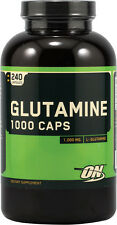 Optimum Nutrition GLUTAMINE 1000mg Amino Acid - 240 caps BUILD MUSCLE, RECOVERY