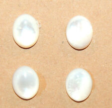 Mother of Pearl 10x8mm set of 4 cabochons 4mm dome (11710)