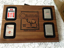 ZIPPO  EXTREMELY RARE WINSTON  LOT OF 4 IN WOODEN CAMEL PLAQUE NEW