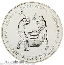 1988 Silver Dollar Brilliant Uncirculated - Saint-Maurice Ironworks -  D299