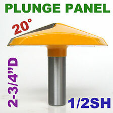 "1pc 1/2""SH 2-3/4"" Dia French Provincial Plunge Raised Panel Router Bit  sct-888"