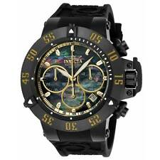 Invicta 22920 Gent's Chrono Black MOP Dial Silicone Band Watch