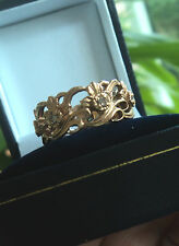 Welsh 14ct Rose Gold & Seven Diamond Daffodil Ring by Stuart Devlin -  size K