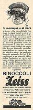 W2195 Binoccoli ZEISS - In montagna e al mare... - Pubblicità del 1931 - Old ad