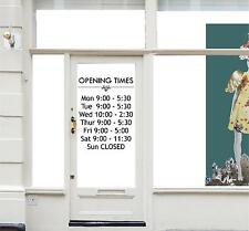 Opening Hours Times Shop Custom Vinyl Sign - Sticker Decal 40cm wide