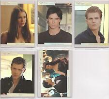"Vampire Diaries Season 3 - ""Mystic Falls Foil"" Set of 5 Chase Cards NV1-5"