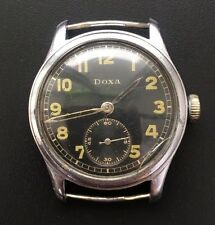 RARE ORIGINAL MILITARY GERMAN WATCH DOXA LUFTWAFFE (D) WEHRMACHT WW2 WORKING