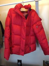 LL Bean, Goose Down Women's Winter Coat/Parka. Women's size small. Red