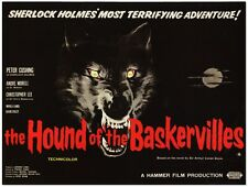 Hound of the Baskervilles - Peter Cushing - Hammer - A4 Laminated Mini Poster