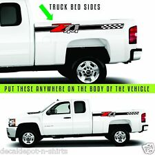 2 - Z71 4x4 F Chevy 07-13 Decal Sticker Parts for Silverado GMC Sierra truck
