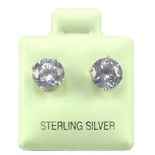 Sterling Silver - 7mm Round Alexandrite (CZ) Stud Earrings (SE210)