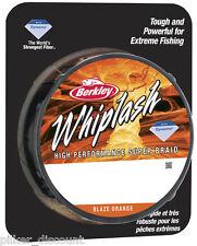 (0,106€/m) BERKLEY WHIPLASH ORANGE 0,12mm/16,7kg - 300m geflochtene Angelschnur