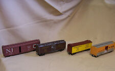 LOT 4 FREIGHT CARS HO SCALE NP6790 D&RGW69602 FGEX 9780 UP 187085 PARTS AS-IS