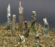 Reality In Scale 1:35 Small Tree Trunks 8pc - Resin Diorama Accessory #35244