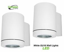 2 x LED Crompton White Outdoor Exterior Wall Down Light - 240V 5W GU10 IP65