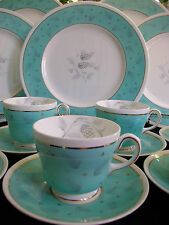 WEDGWOOD WESTOVER  W3981- c.1950's- CUP & SAUCER (S)- EXCELLENT!! MINT!! GILT!!