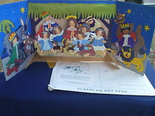 Vintage Alfred Mainzer Made in Denmark Pop Up Fold Out Advent Christmas Calendar