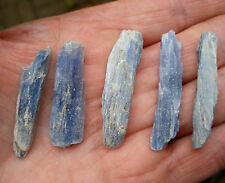 5 x BLUE KYANITE BLADES ROUGH NATURAL UNPOLISHED SIZE 30mm to 40mm BAG & ID CARD