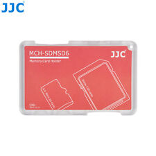 "JJC 0.2"" UltraSlim Credit Card size Memory Card Holder for 2 SD+4 Micro SD Cards"